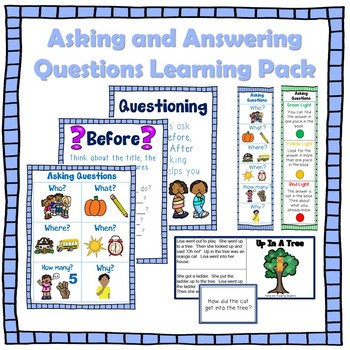 Asking Questions Poster Pack Plus Bookmarks