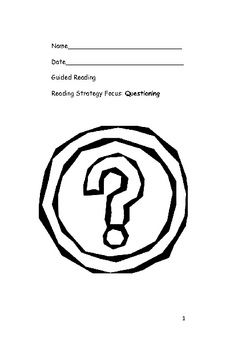 Questioning Booklet for Guided Reading