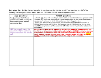Questioning Comp Strategy BDA and Thick or Thin Question Sort