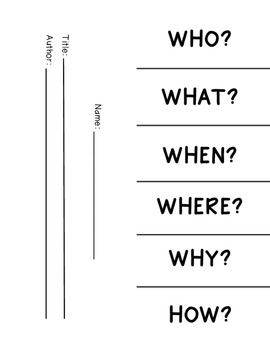 Questioning Foldable (Common Core Aligned)