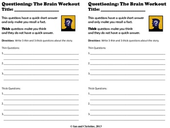 Questioning: Generating Thick and Thin Questions
