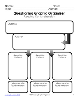 Questioning Graphic Organizers for Guided Reading