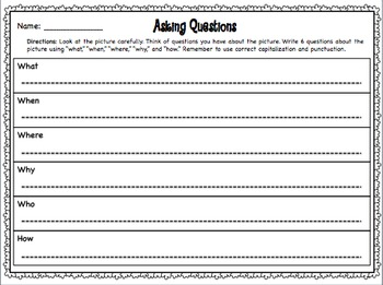 Questioning Interactive Notebook Pages and Work Station