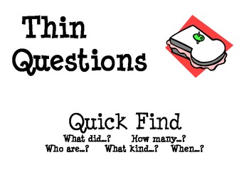 Questioning Lesson Plans and Organizers- Common Core Connection