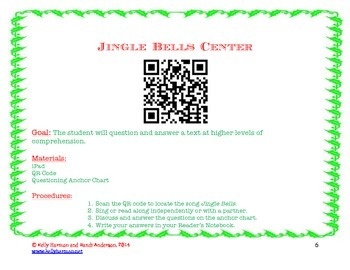 Questioning Lesson and iPad Centers Using Holiday Songs