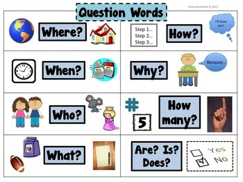 FREE Question Words Student Reference