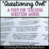 Questioning Owl -- A Poem for Teaching Question Words