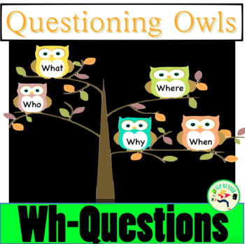 """""""wh"""" questions who, what, when, where, why?"""
