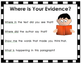 Questioning Poster for Text Based Answers-Common Core ELA/ Literacy: Shift 4