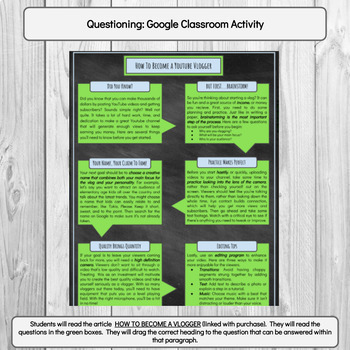 Questioning Practice: Google Classroom Digital Activity