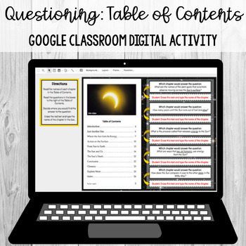 Questioning - Table of Contents: Google Classroom Digital Activity [SOL 4.6a,b]