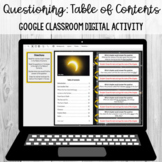 Questioning - Table of Contents: Google Classroom Digital