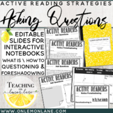 Questioning Reading Skill + Foreshadowing / Guided Reading / Reading Strategies