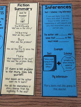 Reading Comprehension Strategy Bookmarks + Posters