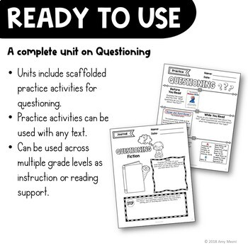 Questioning Reading Strategy Unit: Notes, Practice, & Assessment