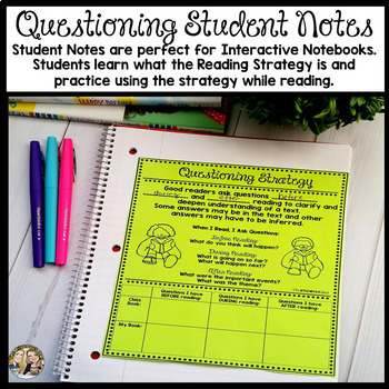Questioning Reading Strategy Week Lesson and Practice