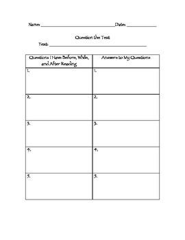 Questioning- Stephanie Harvey Tool Kit