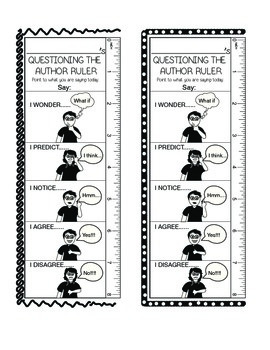 Questioning The Author Ruler Bookmark!