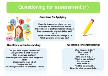 Questioning for assessment Poster I