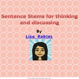 Sentence stems- for thinking and discussing