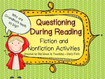 Questioning with Fiction and Nonfiction 3 Lessons, Games and More...FUN!!!