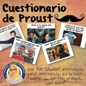Questionnaire Slideshow and Spanish Task Cards