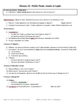 Questionnaire complémentaire à la trousse d'évaluation en lecture GB+