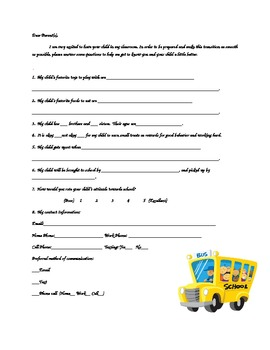 Questionnaire for Parents