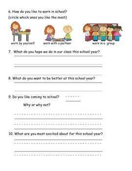 Questionnaire for Students-Get to know you/How do you like to learn