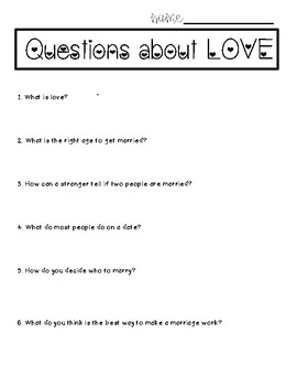 Questions About Love