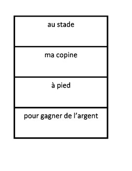 Questions & Answers game in French
