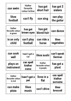Questions Bingo