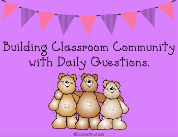 Questions, Classroom Community, Sharing