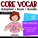Questions Core Vocabulary Adapted Book Bundle [Level 1 and