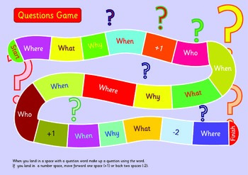 Questions Game.A3. MAke up a sentence using the question w
