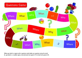 Questions Game.A3. Make up a sentence using the question word.ESL,EFL.