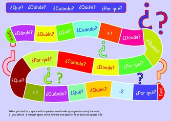 Questions Game.Spanish Version. A3. Make up a sentence using the question word.