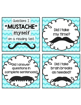 """Questions I """"Mustache"""" Myself on a Reading Test"""