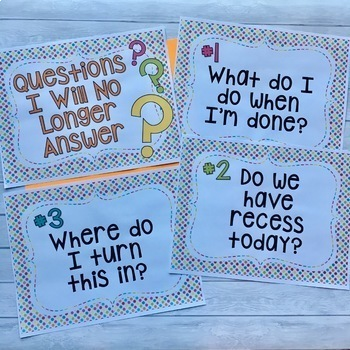Questions I Will No Longer Answer - Editable Signs