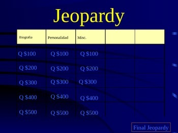 Questions Jeopardy
