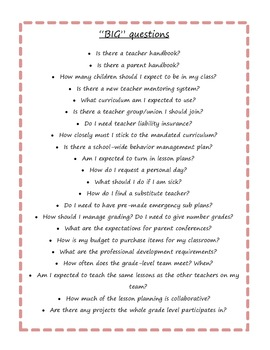 Questions New Teachers Shou... by Teaching Without Frills ...