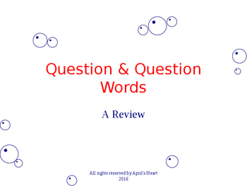 Questions & Questions Words