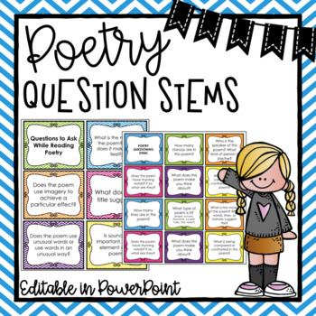 Poetry Question Stems