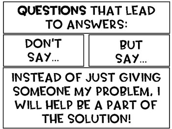 Questions That Lead to Answers anchor chart.