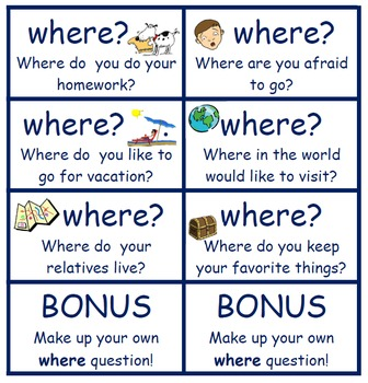 """Questions Words Card """"Game"""""""