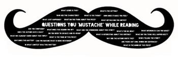 """Questions You """"Moustache"""" Reading Strategies Poster"""