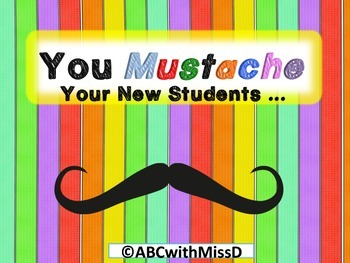 "Back to School:Questions You ""Mustache"" Your New Students!"
