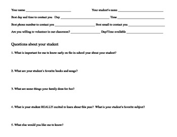 Questions about your student