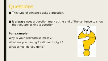 Questions and Commands Powerpoint Presentation