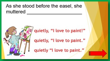 Questions and Exclamations PowerPoint:  find two ERRORS in each sentence